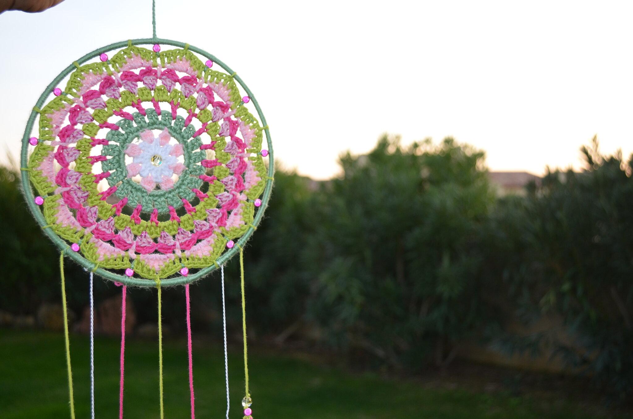 attrape rêves Mandala par La chouette bricole