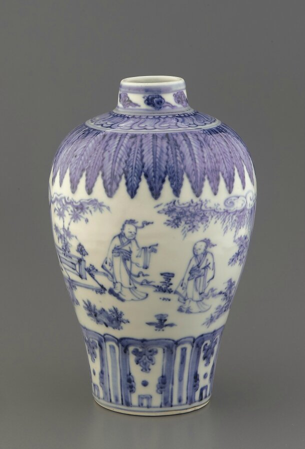 Blue-and-White vase, mid 15th century, Ming dynasty (1368 – 1644)