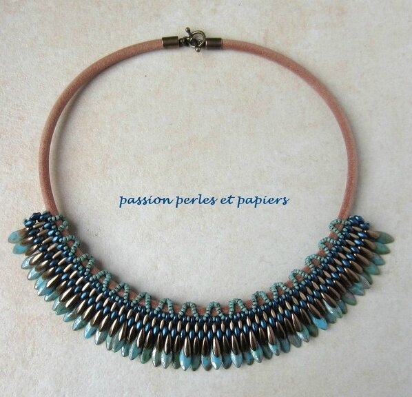 tribal queen turquoise et bronze - Copie