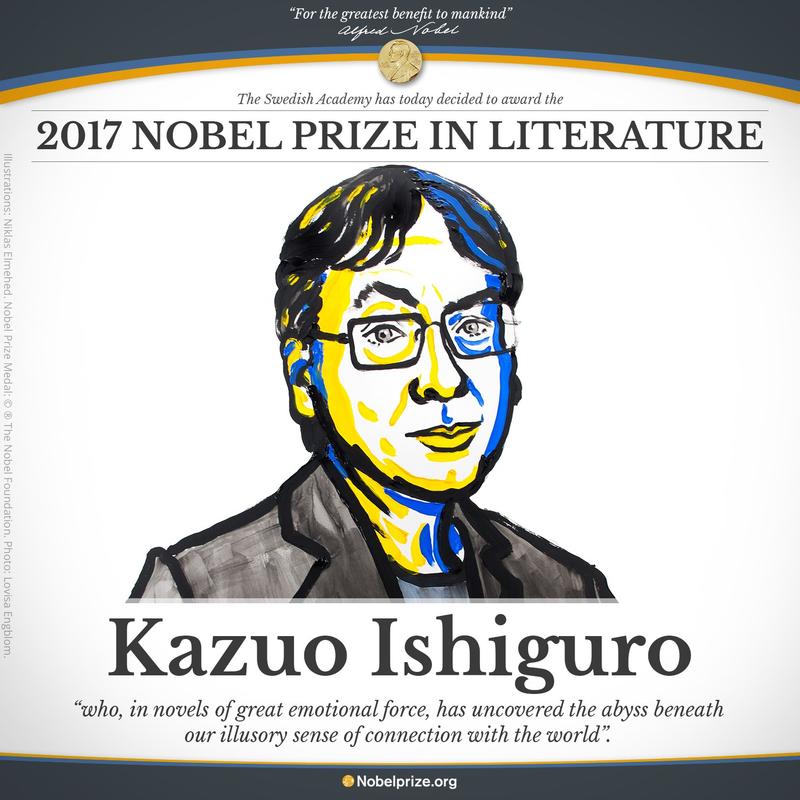 Kazuo Ishiguro, prix Nobel de littérature 2017