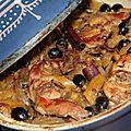 Tajine de lapin aux olives et citrons confits
