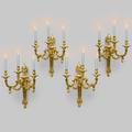 Quatre appliques faites pour le roi de pologne. par philippe caffiéri (1714-1774)