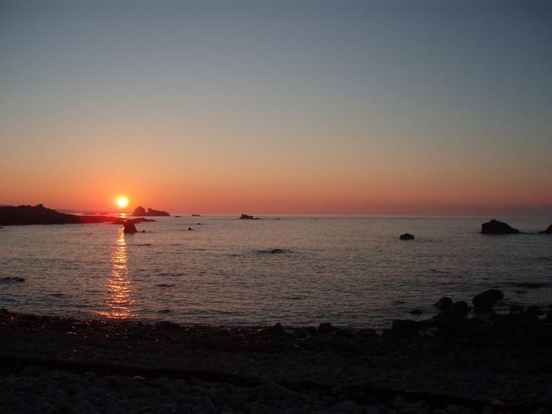 coucher de soleil à la pointe de Jardeheu