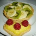 Tartelettes aux fruits frais (et première crème pâtissière!)