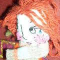 Une poupée bouts de tissus