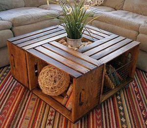 Table basse avec des caisses en bois