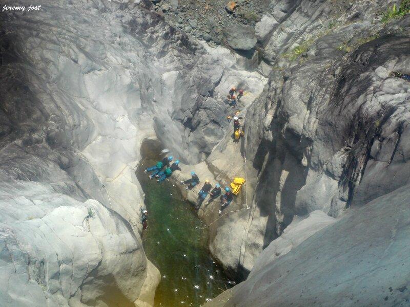 canyon et bassin vu du dessus