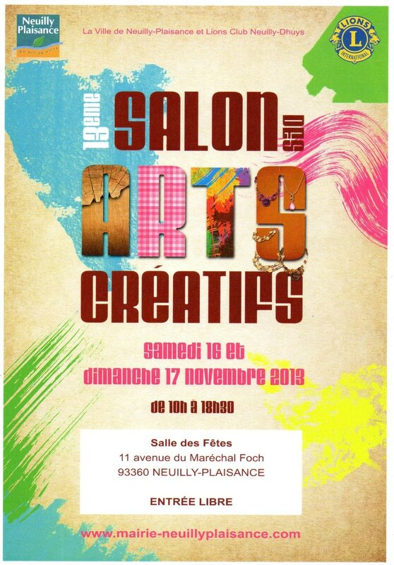 Affiche Arts Créatifs 2013 Neuilly Dhuys