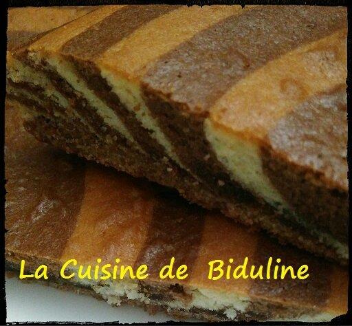 Cake zébré Vanille/Choco - La cuisine de Biduline