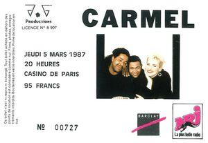 1987_03_Carmel_Casino_de_Paris_Billet