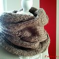 Col #1 : burberry inspired cowl