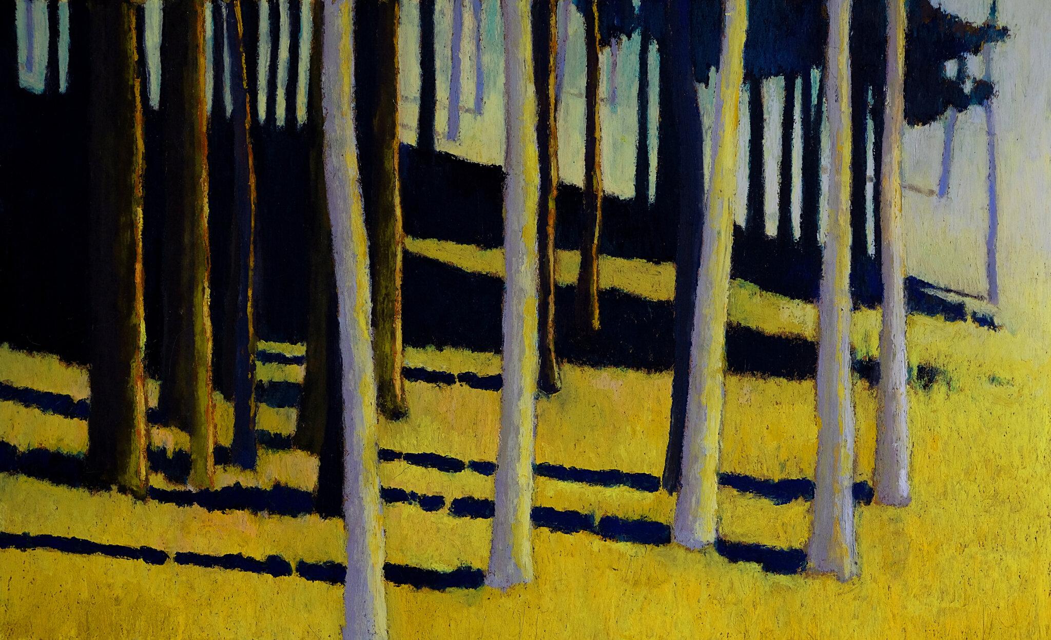 A la lisière de l'ombre , mars 2018, pastel à l'huile, 48 x 32 cm