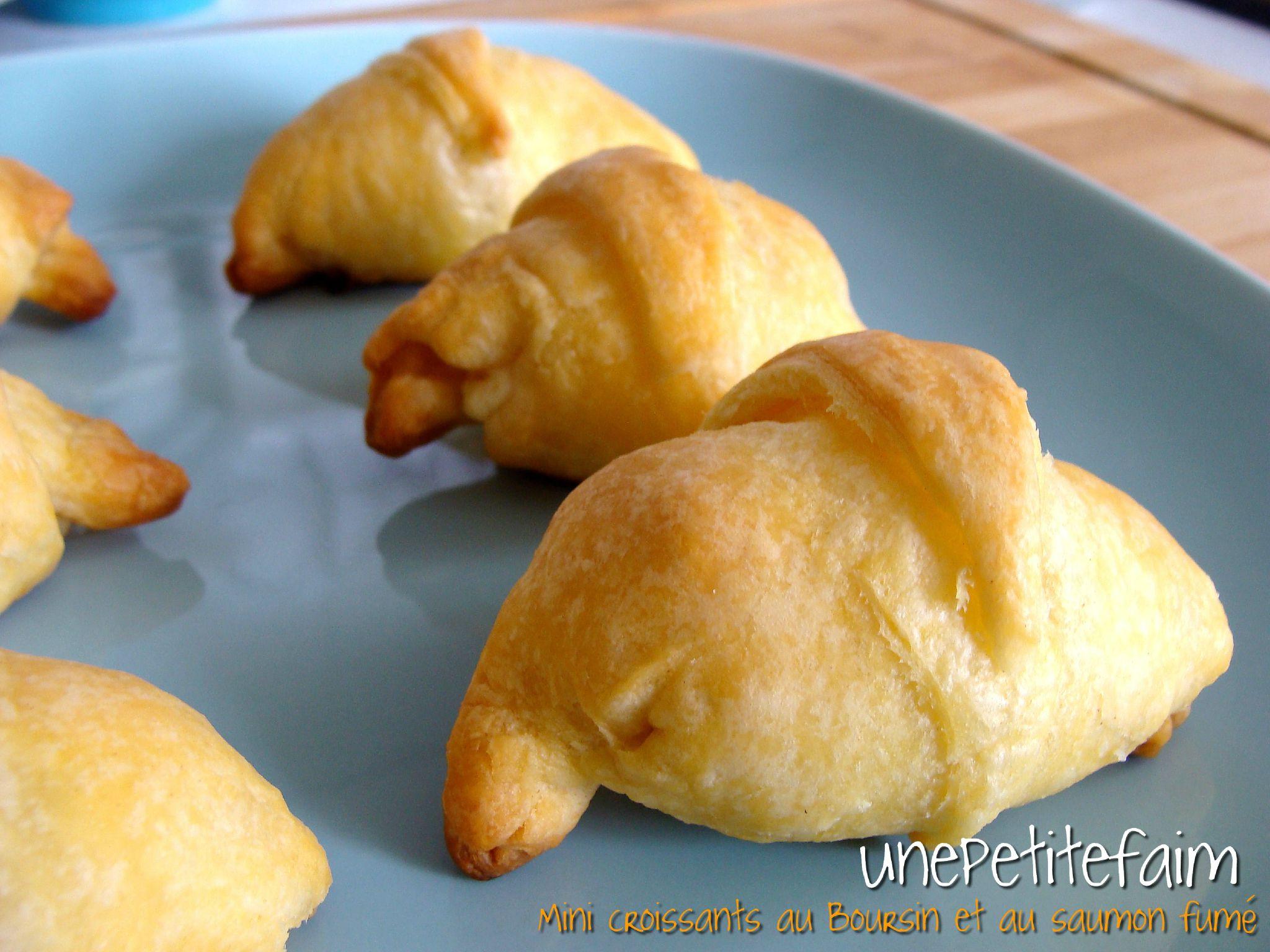 Mini croissants au Boursin et au saumon fumé