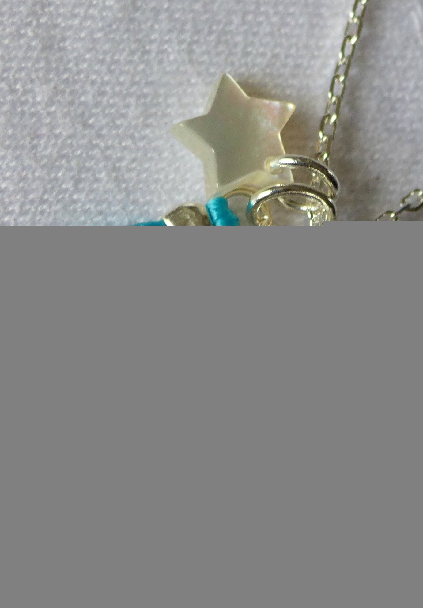 Collier Mary (turquoise) - 59 € (détails)