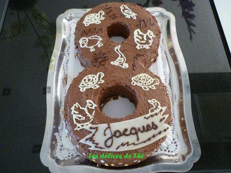 Anniversaire forme 8 génoise chocolat+mousse chocolat (8)