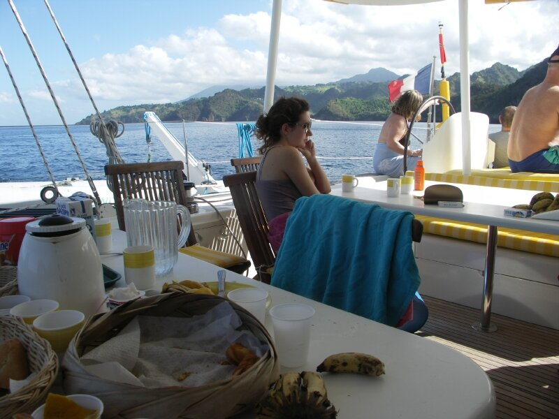 Vue extérieure bateau, première matinée