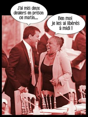 valls taubira humour ps hollande delinquance