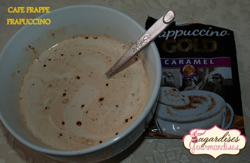 café frappé caramel