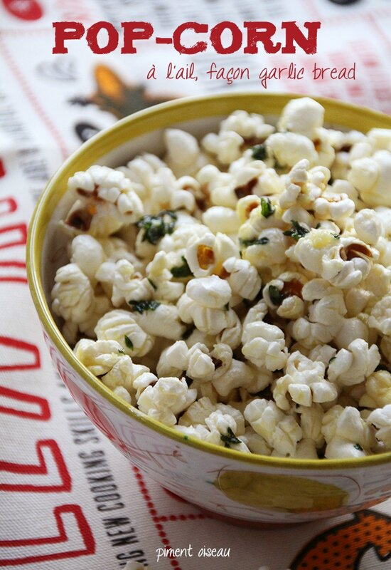 pop-corn à l'ail - garlic popcorn