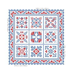 Carré de 9 Petits carrés visuel P