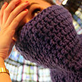 Purple snood