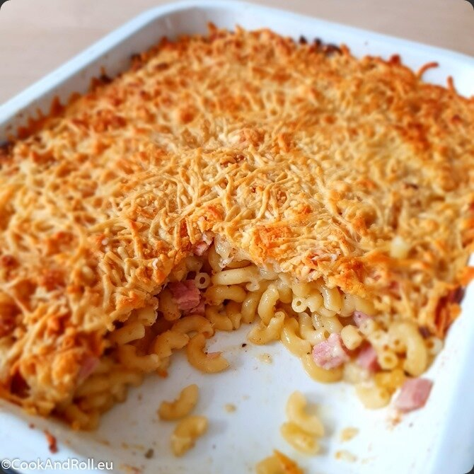 Coquillettes-fromage-jambon-gratin-5