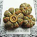 ♥ elicia ♥ broche textile hippie chic fleurs potirons - les yoyos de calie