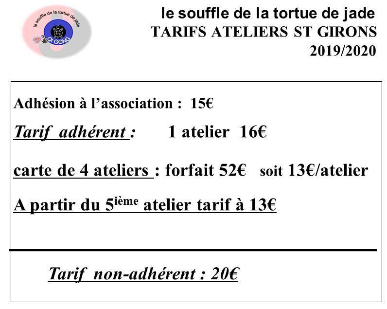 tarifs AT STG