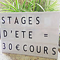 Stage d'ete supplementaire