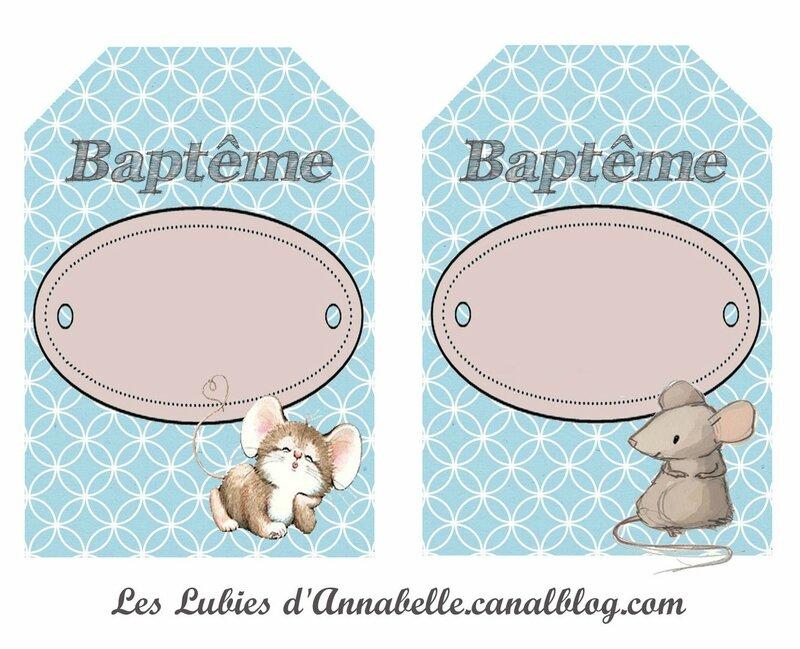 étiquette décoratives baptême 2