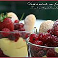 Dessert minute aux fruits rouges