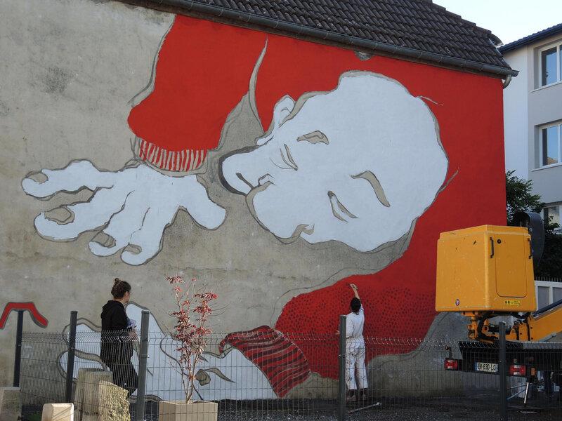 Bayonne, Festival Street art Points de vue 2019, fresque ELLA PITR
