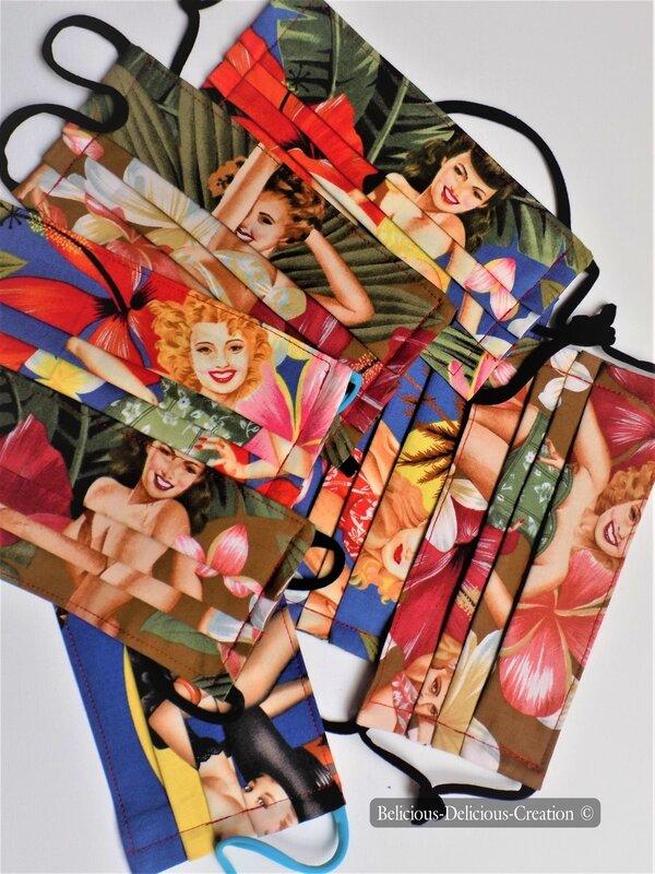 UNISEX Masque,Protection visage en tissu !! WITCH !! en Coton T:18.5 cm wide, 9cm Long Extensible à 17cm belicious-delicious