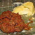 Boeuf au satay et sa polenta au coeur mozzarella