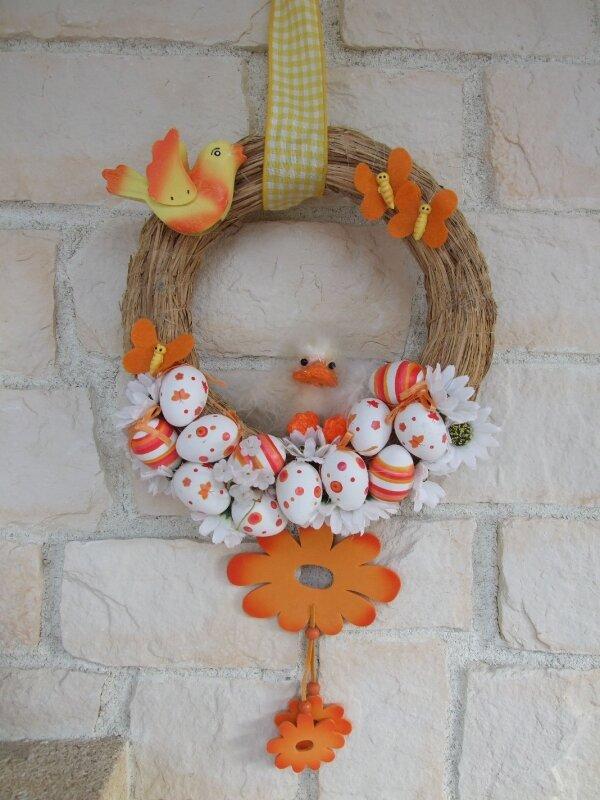couronne de porte Pâques 2009