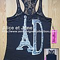 Abbey Dawn Eiffellavigne Lace Racer Neck Tank