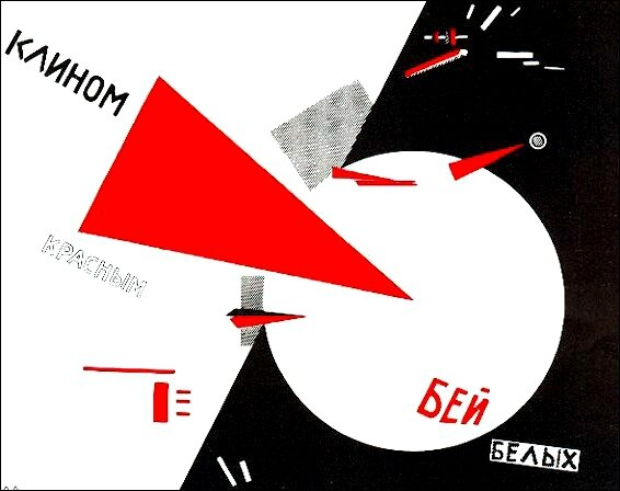 Affiche Coin rouge Lissitzky 1920