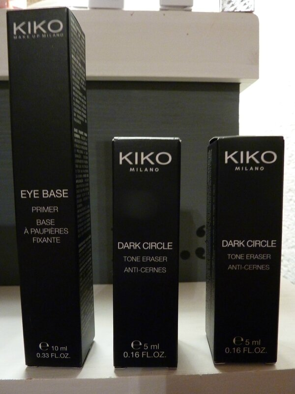 EYE BASE PRIMER et 2x DARK CIRCLE TONE ERASER