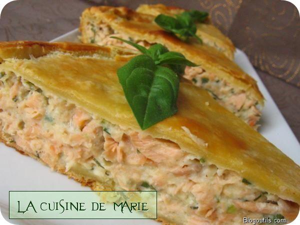 Tourte Aux Deux Saumons La Cuisine De Marie