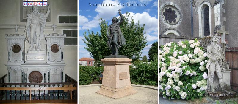 Statues de Cathelineau au Pin-en-Mauges