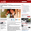 interview sur Le point.fr (Le point Afrique)