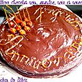 Moelleux au chocolat, noix, noisettes et amandes