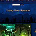 Site pour générer un nom de personnage/ville/créature...