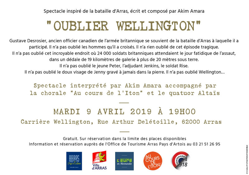 Invit Wellington texte