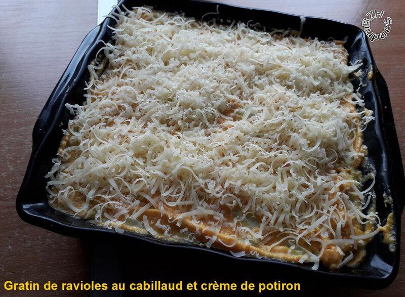 1206 Gratin de ravioles au cabillaud et crème de potiron 7