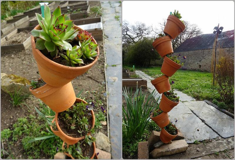 pyramide de pot de fleur