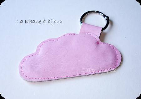 porte clef nuage rose
