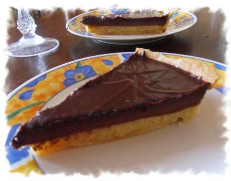 tarte choco amandine