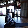 Méditation devant le mont fuji