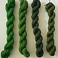 Mouliné vert